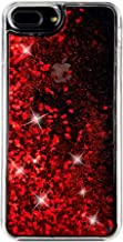 uCOLOR Red Glitter Case for iPhone 7 Plus iPhone 8 Plus Case iPhone 6S Plus/6 Plus Case (5.5