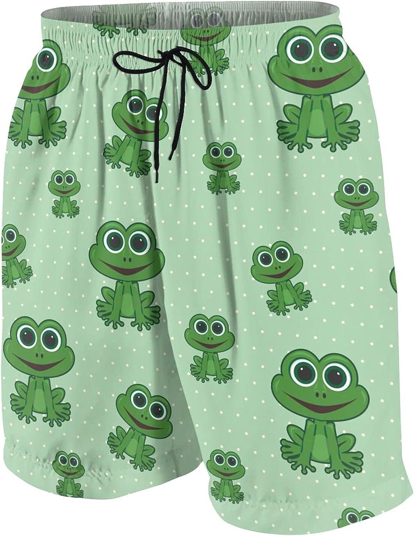 FuYin Cartoon Frog Boys Swim Trunks Quick Dry Beach Board Swim Shorts Swimsuit Swimwear from 7T to 18
