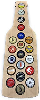 CreaTech Wooden Beer Cap Decor Collectors Holder - 20 Beer Cap Display