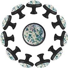 "12 Pack Ronde Keukenkast Knoppen Trekt (1-37/100"" Diameter) - Blue Rose Art Abstract - Dressoir Lade/Deur Hardware - DIY P..."