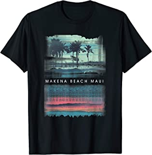 16c366e0 Makena Beach T Shirt Maui Hawaii Beach Retro Hawaiian