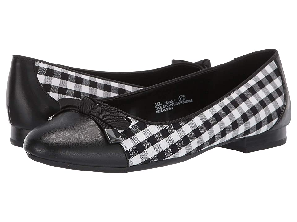 1950s Style Shoes | Heels, Flats, Saddle Shoes A2 by Aerosoles Handout BlackWhite Combo Fabric Womens Flat Shoes $69.99 AT vintagedancer.com
