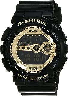 Casio G-Shock Digital Mens Black X Gold Series Watch GD100GB-1 GD-100GB-1DR