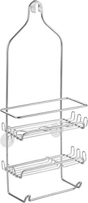 """iDesign Milo Steel Hanging Shower Organizer - 9"""" x 4.5"""" x 21.25"""", Silver"""
