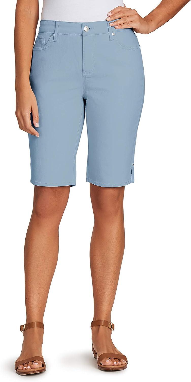 Gloria Vanderbilt Direct Price reduction stock discount Women's Plus Size Jean Mid Belted Rise Bermuda
