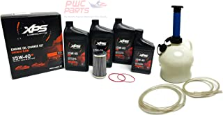 SeaDoo 4-TEC 130/155/185/215/255/260/300 ACE 1630 Oil Change Kit UPGRADED Re-Inforced Oil Filter O-Ring Set & 4L Oil Extractor Pump GTX GTI RXP RXT RXP-X RXT-X GTR Supercharged