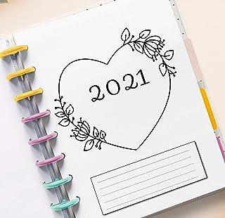 2021 Monthly Planner Calendar Refills for 9 Disc Planners, Monthly Calendar Inserts, 7 x 9.25 Medium Size Monthly Calendar...
