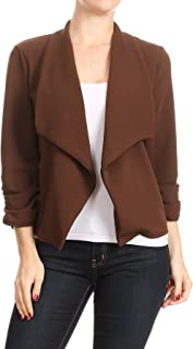 Women's Basic Lightweight Open Front Solid Cardigan (S~3XL)