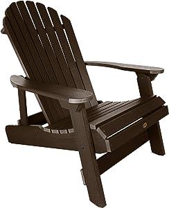 Highwood AD-KING1-ACE Hamilton Adirondack Chair, King Size, Weathered Acorn