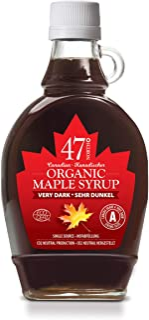 47 North Canadian Organic Single Source Syrup, Dark, Robust 250g