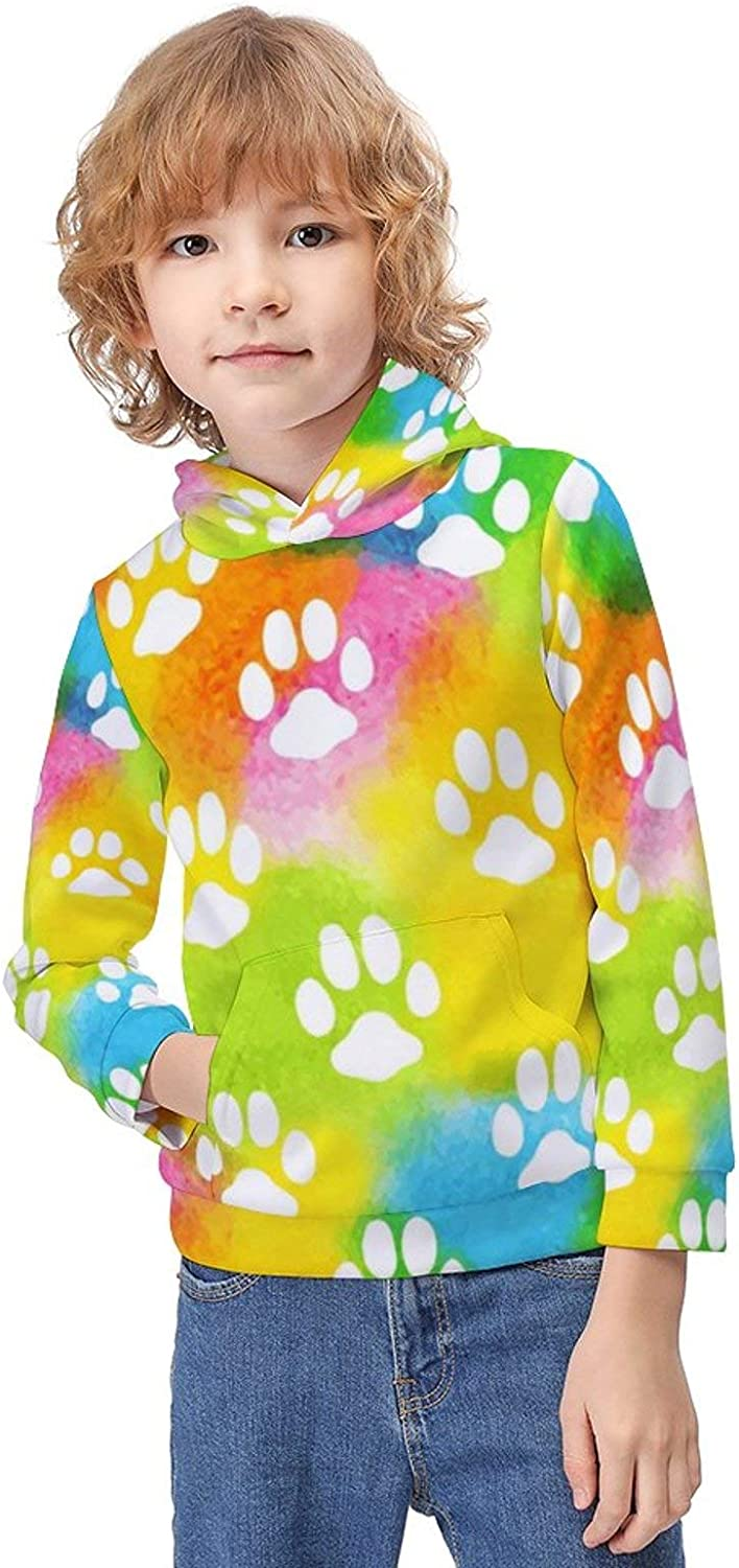Boys Girls Classic Pullover Hoodie Long Sleeve Printed Sweater for Children