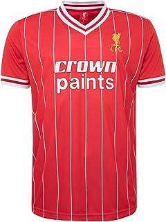 Liverpool FC Men Retro 1982 Home Shirt LFC Official Red
