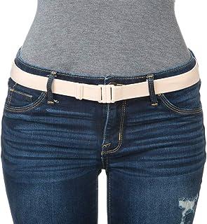 Adjustable elastic belt - Belts for Women, Non-Slip Waist Belt - No Show Flat Buckle Womens Belt...