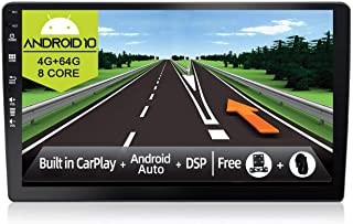 JOYX Android 10 Double Din Car Stereo Head Unit - [4G+64G] - Built-in DSP/Carplay/Android Auto - Free LED Backup Camera Mi...