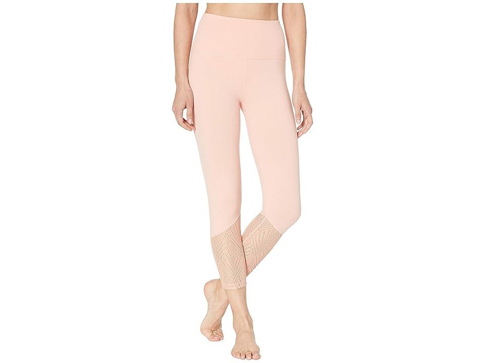 Beyond Yoga Mesh In Line High-Waisted Capri Leggings (Coral Dust) Women