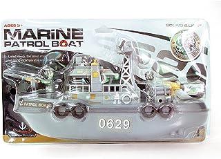 Baosity Electric Mini Marine Patrol Boat Child Educational Toy Ship Model