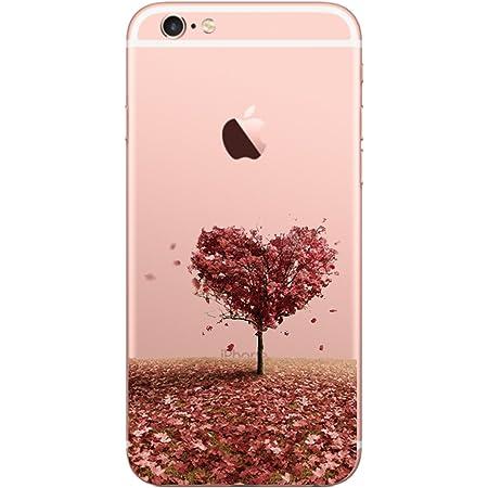 2 en 1 Ultra Mince Coque Transparente Silicone Gel TPU Souple avec Cute Motif Dessin Grandoin Coque iPhone 6S//iPhone 6 Housse Etui pour Apple iPhone 6S //6 4.7 Fleur du Soleil Blanc