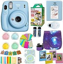 Fujifilm Instax Mini 11 Blue Camera + Fuji Instant Instax Film (20 Sheets) Includes Galaxy Camera Case + Assorted Frames +...