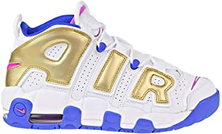 Air More Uptempo Big Kid's Basketball Shoes White/Fuchsia Blast 415082-106