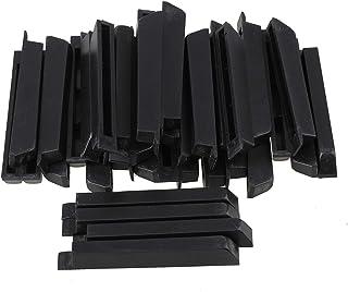 BQLZR Black Antique PVC Piano Keytops Sharp Piano Keys Flats
