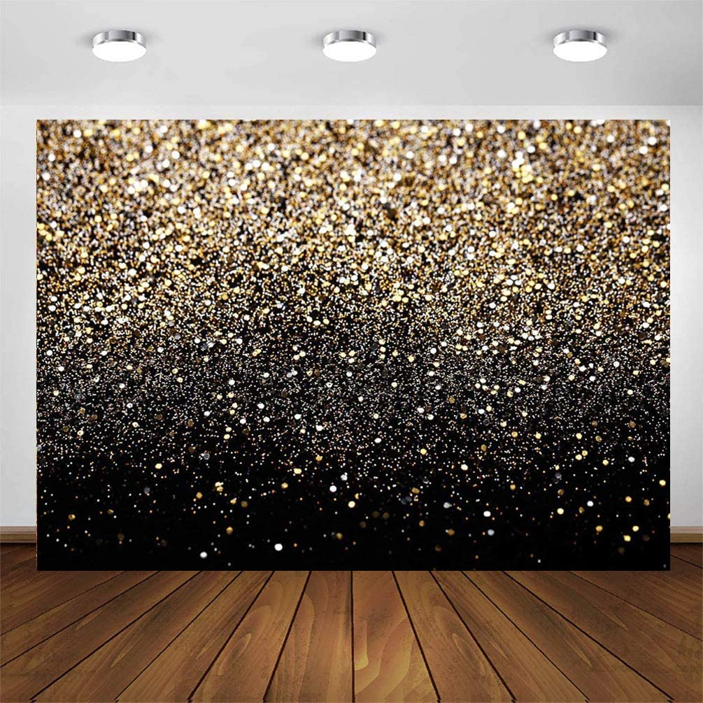 CYLYH Bombing new work 10X8ft Glitter Backdrop Astr Golden Spots Vintage sold out