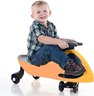 COOLBABY Wiggle Car Ride On Toy – No Batteries, Gears or Pedals – Twist, Swivel, Go – Outdoor Ride Ons for Kids 3 Years an...
