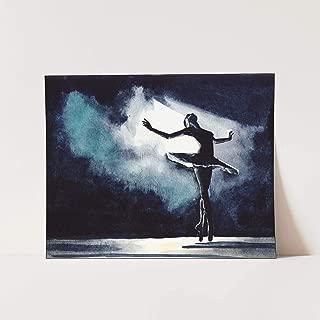 Swan Lake Ballet Performance Art Print of Watercolor Painting
