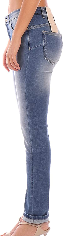 Manila Grace J402D6 Jeans Femme Bleu