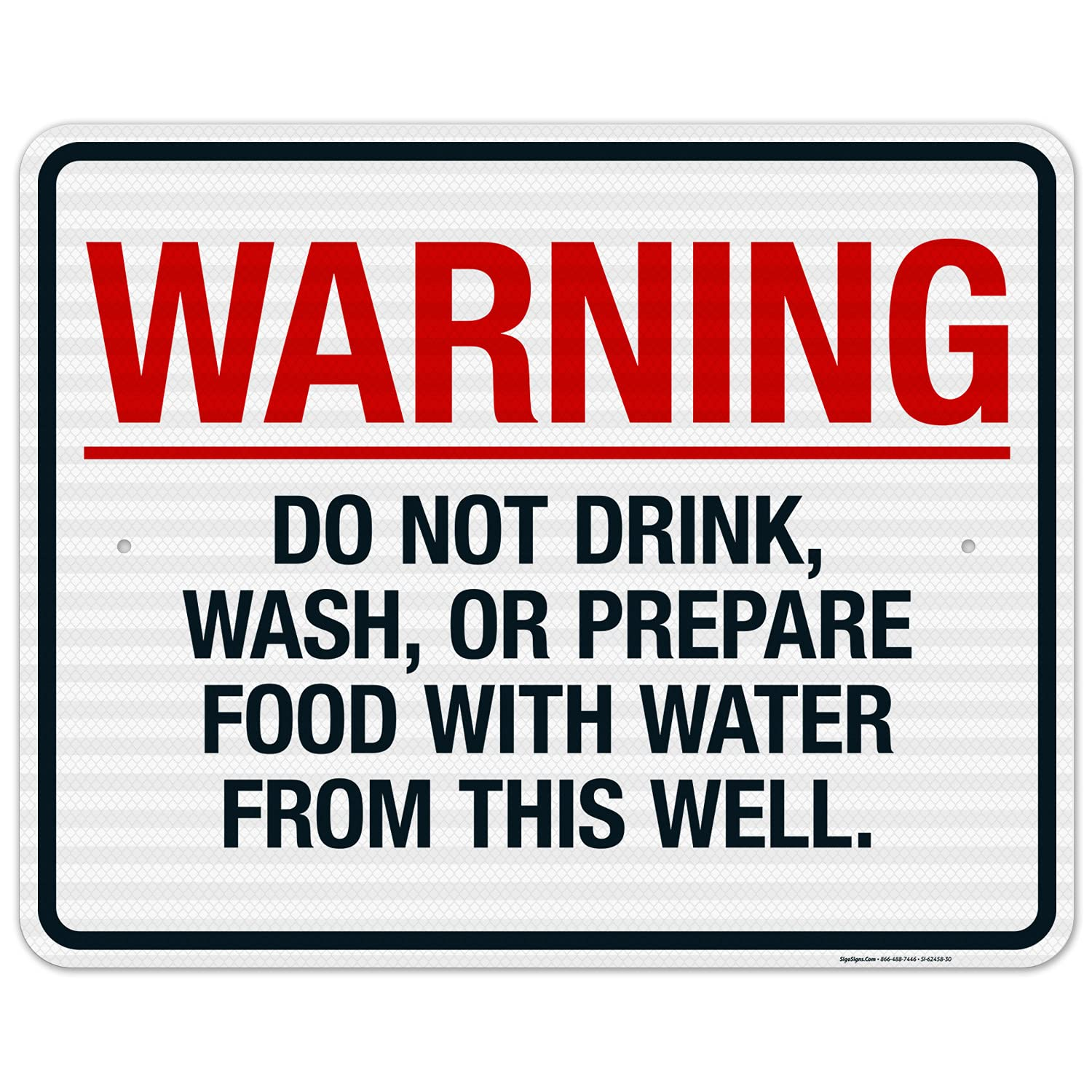 Warning Do Not Drink All items free shipping Wash Or Prepare with from This W Water Deluxe Food