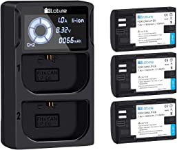 3 Pack Replacement Canon LP-E6, LP-E6N Battery PLOTURE Camera Battery Charge Compatible for Canon EOS 5D/ 6D/ 7D/ 70D/ 60D/ 60Da/7D /BG-E14/BG-E13/BG-E11/ BG-E9/BG-E7/BG-E6 Grips
