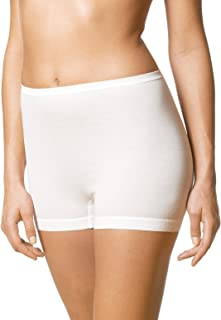 Mey 27021-1 Women's Noblesse White Solid Colour Knicker Shorties Boyshort