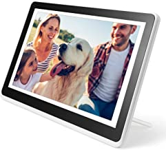 Digital Picture Frame WiFi Digital Photo Frame YEEHAO 1920x1080 Touch Screen, Support Thumb USB Drive and SD Slot, Music Player, Share Photos and Videos via APP, Email (10 inch, White)