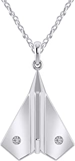 Best airplane necklace white gold Reviews