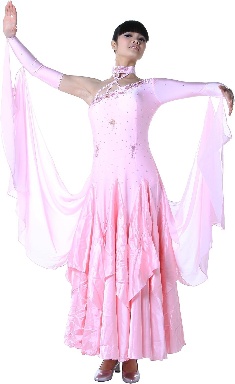 colorfulworld Lady Ballroom Modern Waltz Tango Dance DressOver all dress pink
