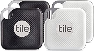 $140 » Tile Inc., Pro Black and White Combo, Bluetooth Tracker and Finder, Water Resistant, Replaceable Battery, Easy to Attach f...