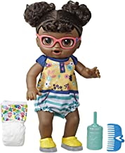 Baby Alive Step 'N Giggle Baby Black Hair Doll with Light-Up Shoes, Responds with 25+ Sounds & Phrases, Drinks & Wets, Toy for Kids Ages 3 Years Old & Up
