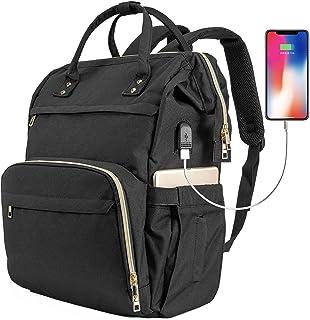 ERIHOP Laptop Backpack Women 17 Inch Laptop Bag Fashion Backpack Purse, Work Backpack Tote Computer Bag with Charging Por...