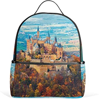 Backpack Neuschwanstein Castle Autumn Womens Laptop Backpacks School Hiking Travel Daypack