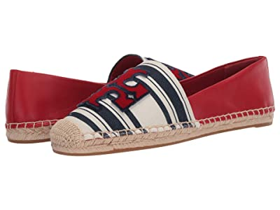 Tory Burch Ines Fil Coupe Espadrille (Navy Bold Awning Stripe/Brilliant Red) Women