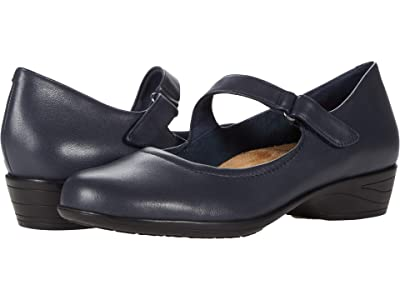 Trotters Rona (Navy Leather) Women