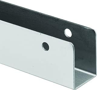 Sentry Supply 650-1502 Wall, 18 GA. x 1/2 in. x 1-1/2 in. x 57 in, Stainless Steel, U Shape Bracket, 5 Hole, Pack of 1