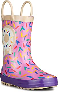 Chillipop Baby Boy & Girl Rainboots - Waterproof, Easy-On Handles, Fun Prints