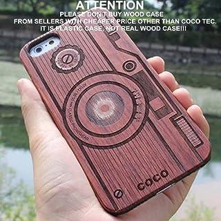 CoCo 木製 iPhone 6/6s用ケース レーザー彫刻 木製 木製ケース カバー 丈夫なポリカーボネート製バンパースリムカバーケース Apple iPhone 6s、iPhone 6 (4.7インチ)用