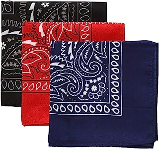 Pañuelos grandes – Pañuelos de cabeza para hombres y mujeres – Colorido Paisley Cowboy Bandana Pack