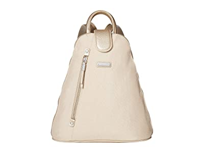 Baggallini New Classic Metro Backpack with RFID Phone Wristlet (Champagne Shimmer) Backpack Bags