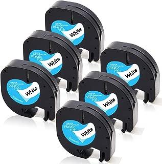 Absonic 91331 S0721660 Plastic Letratag Refills Labeling Tapes Compatible for DYMO LetraTag Plus LT-100H LT-100T LT-110T QX 50 XR XM 2000 Label Maker (1/2
