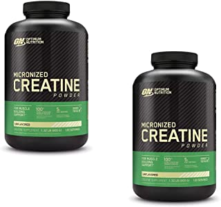 Optimum Nutrition Micronized Creatine Monohydrate Powder, Unflavored, Keto Friendly, 120 Servings (Packaging May Vary) - 2...