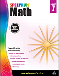 Spectrum   Math Workbook   Grade 7, Printable