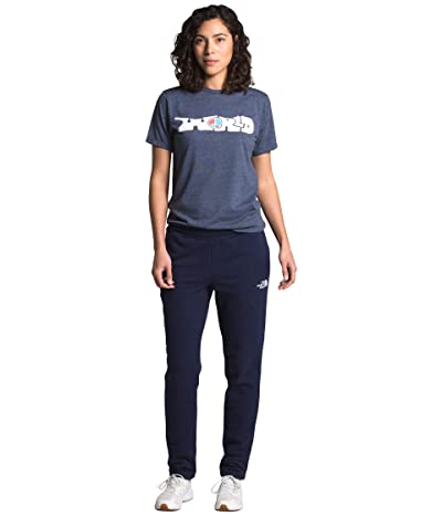 The North Face Memory Jog Crop Sweatpants (TNF Navy) Women