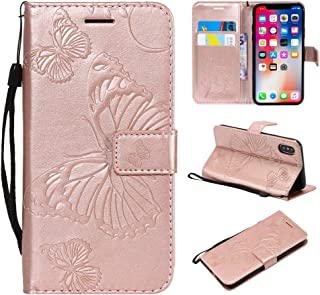 iPhone XS Max Wallet Case,IVY [3D Butterfly] iPhone XS Max PU Leather